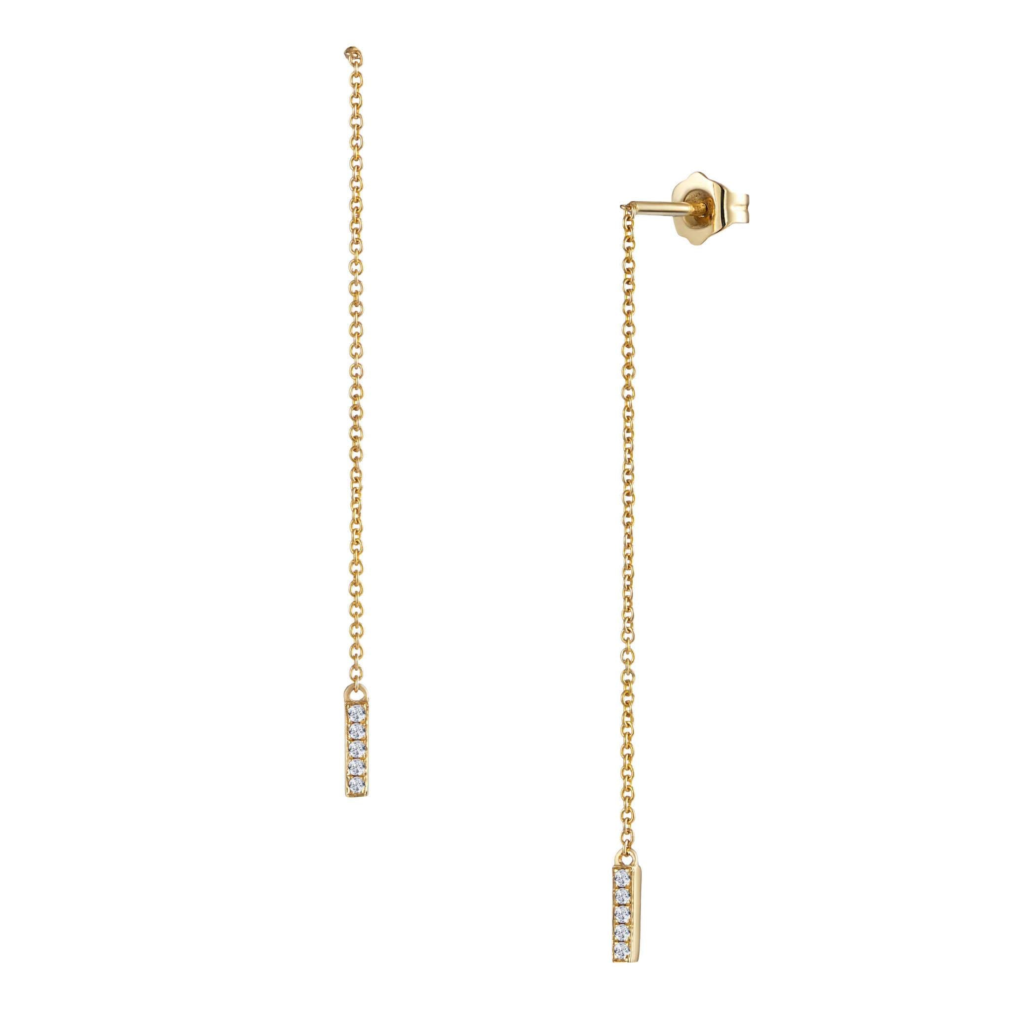 Leora Drop Earrings Yellow Gold