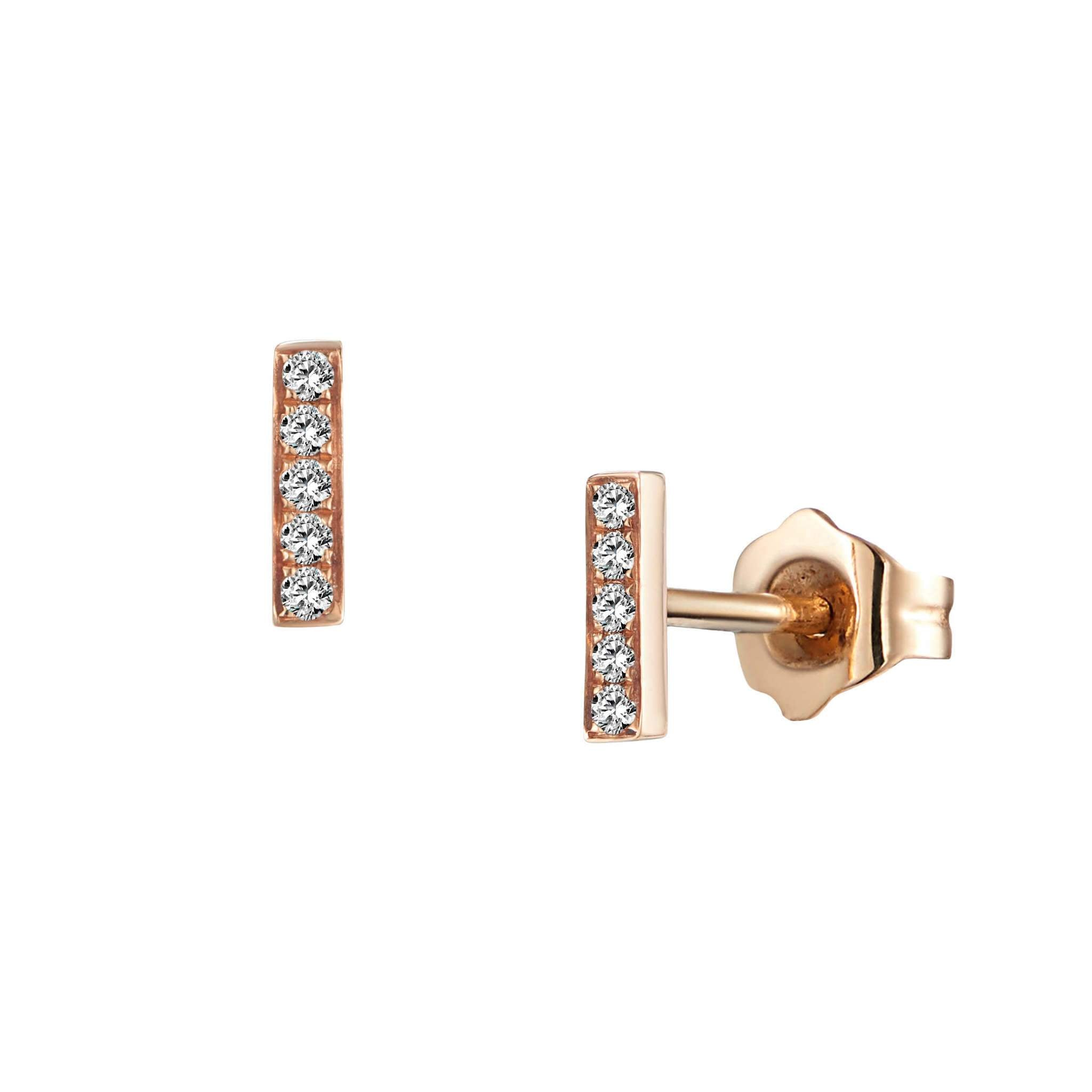Leora Stud Earrings Rose Gold