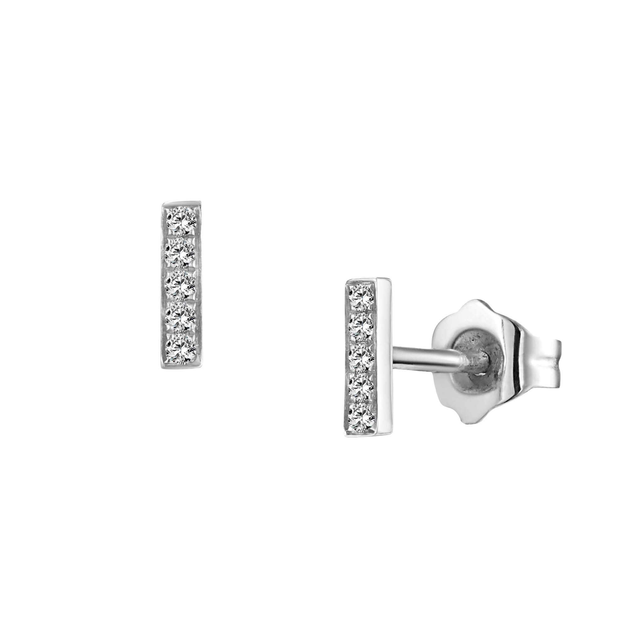 Leora Stud Earrings White Gold