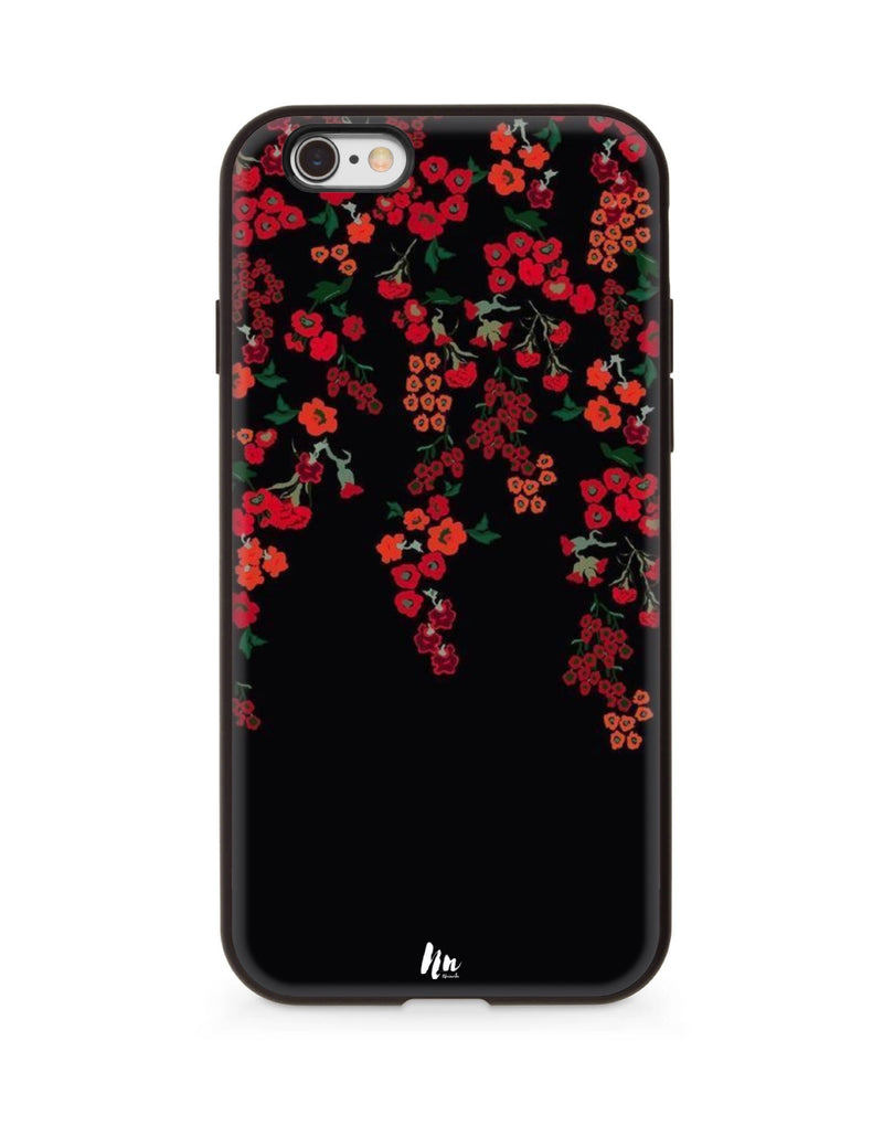 Red Wall flower Case For iphone 6/6s