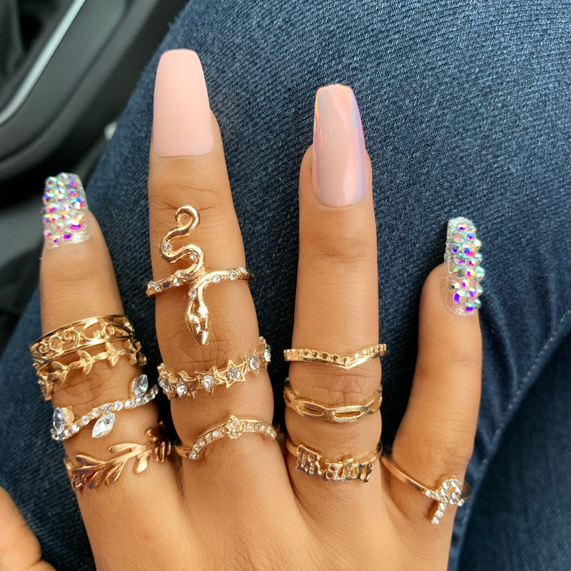 11pc Knuckle Rings