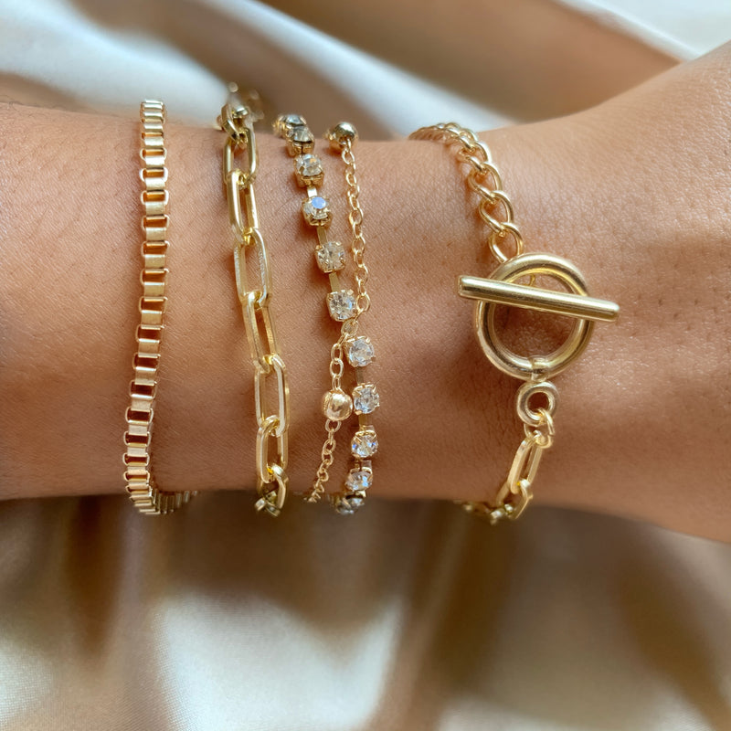 5pc gold Bracelet Set