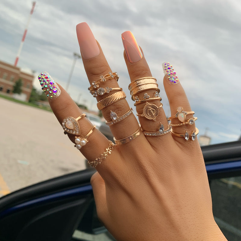 15pc Knuckle Rings
