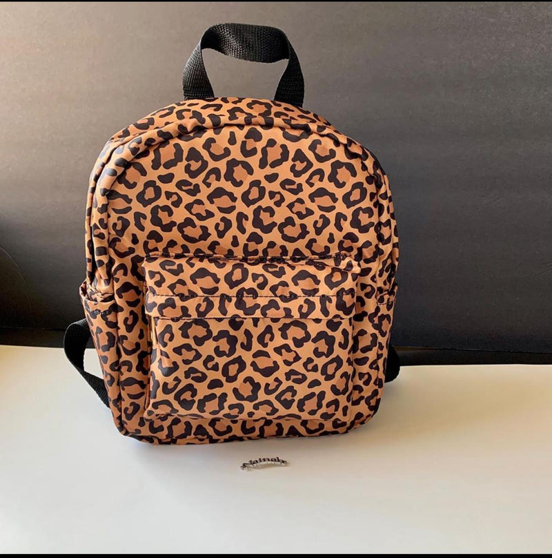 Mini leopard Backpack