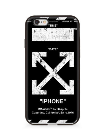 Off white Case For iphone 6/6s