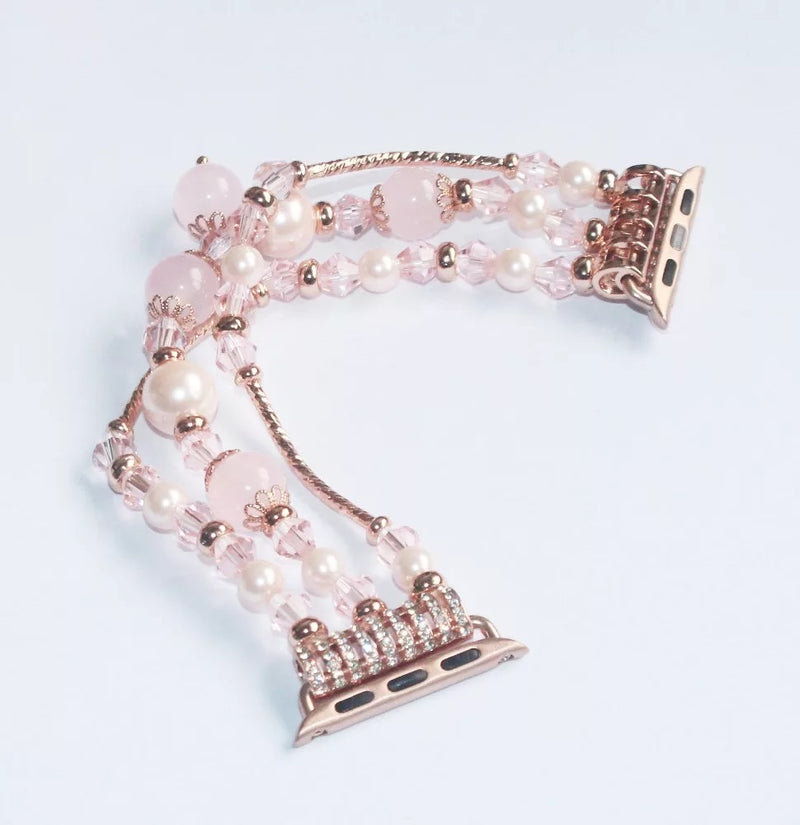 Luxury  Rose Gold Pearl Jewelry Chain Beads Bracelet