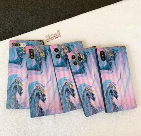 Art Marble Blue/pink  iphone Case