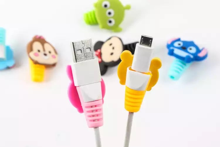 Cartoon spiral Cable Protector