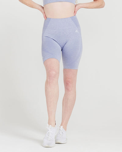 Classic Seamless Cycling Shorts | Ice Grey Marl