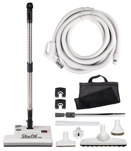 35 ft. Stealth Central Vacuum Hose Accessory Kit with Carpet Power head