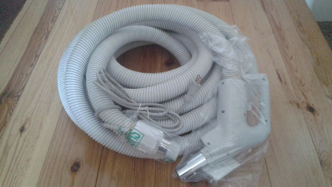 Central Vacuum Electric Hose 35ft Pigtail or Direct Connect Hose Fits Most Brands