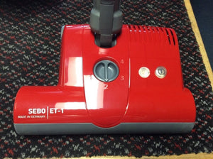 SEBO 9299AM ET-1 Power Head for K3, D4, E3, C3, & Felix 1 Canister Vacuums RED