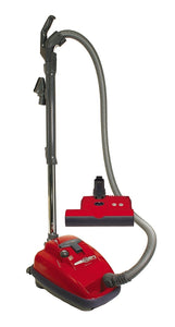 SEBO 9687AM AIRBELT K3 Canister Vacuum w/ ET-1 Powerhead and Parquet Brush (Red)