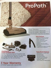 Load image into Gallery viewer, Central Vacuum Pro Path 35 Foot Hose Carpet Power Head Accessory Kit
