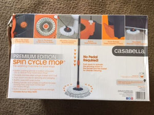 Casabella Spin Cycle Mop Hands Free With Extra Mop Head