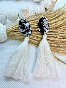 Bright White Tassels