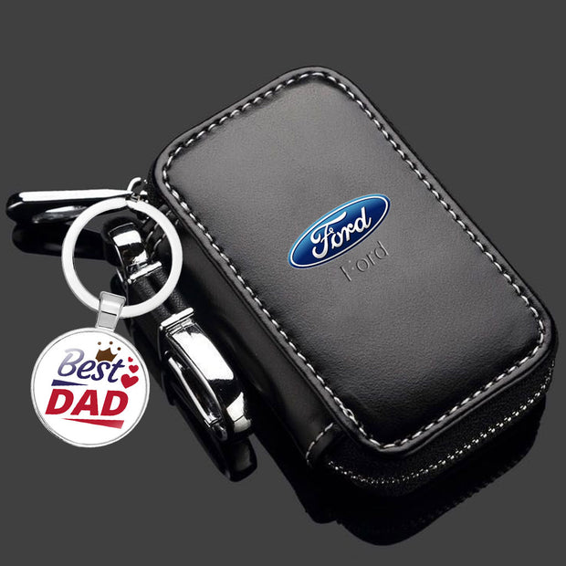 【To Best Dad Gifts】Car Keys Case & Key Chain