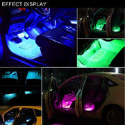 Interior Car LED Strip Lights With Sound Control & RC(WITH APP control)