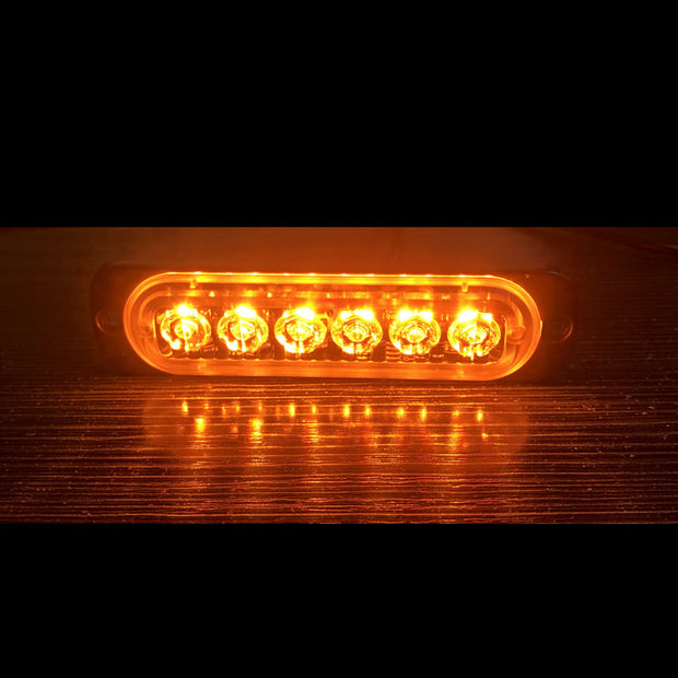 Highlight Single Row 6LED Truck Warning Light Motorcycle Car Strobe Light