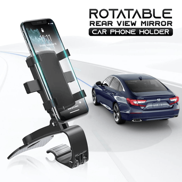 Rotatable Rear-view Mirror Car Phone Holder