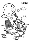 Luka Reads Mid Autumn Festival Coloring Page