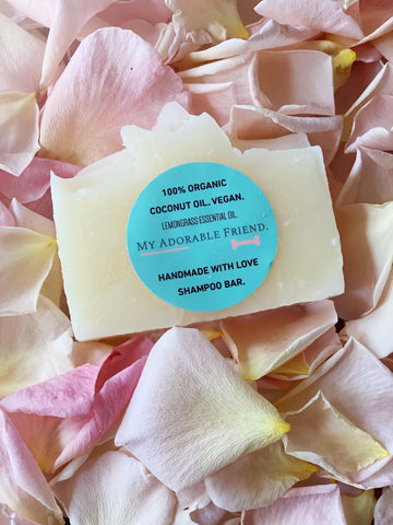 100% Organic Small Lemongrass Shampoo bar