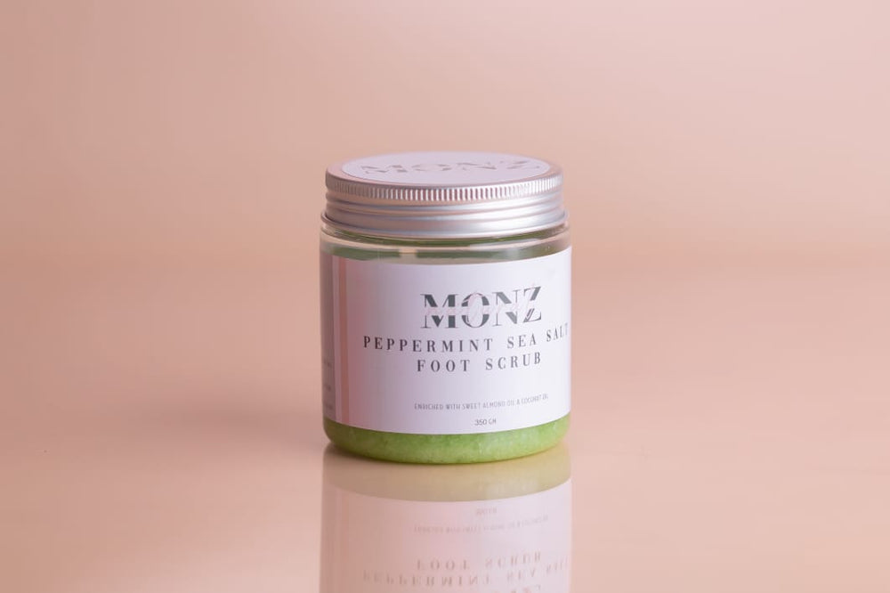 Monz-Pepper Mint Sea Salt Foot Scrub