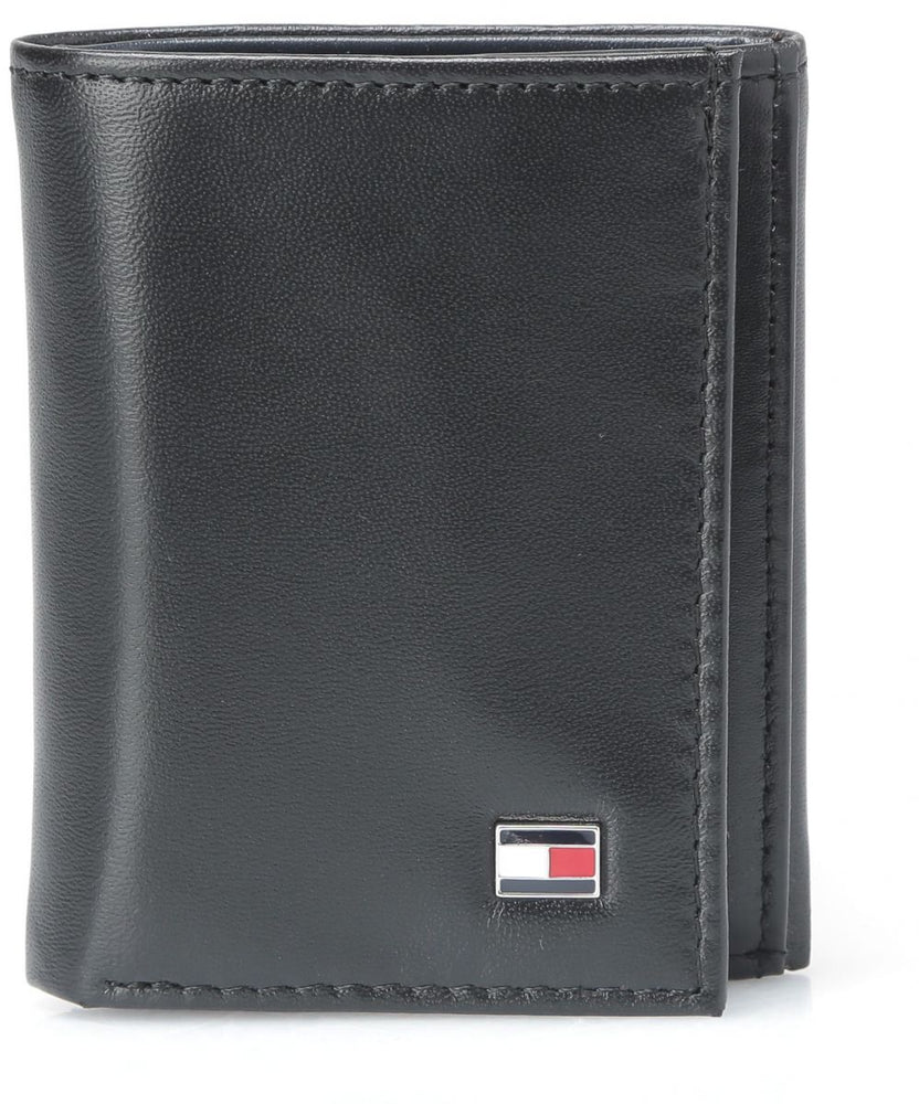 "Load image into Gallery viewer, Tommy Hilfiger-Men's Leather Oxford Slim Trifold Wallet ""Black"""