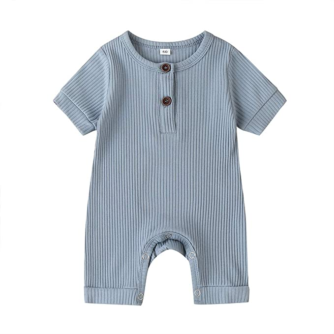 Striped Baby Bodysuits Long Sleeve - Sky Blue
