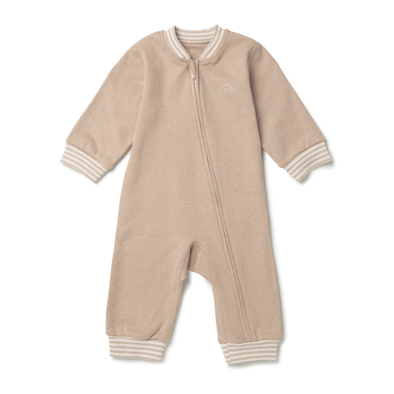 Baby Boy Curved Zipper Pajama