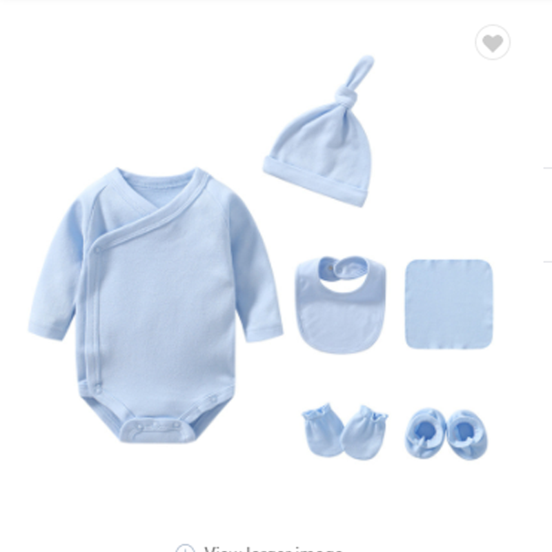 Baby Bodysuit Long Sleeve Set - Blue