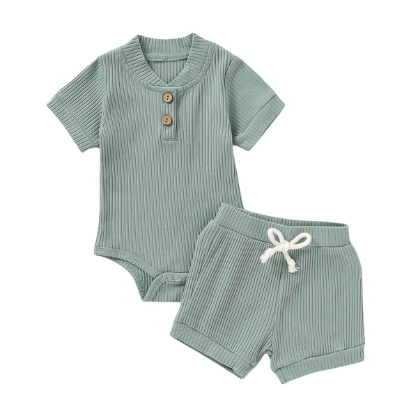 light Blue toddler baby clothes set