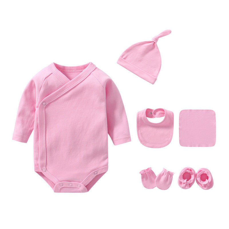 Baby Bodysuit Long Sleeve Set - Pink