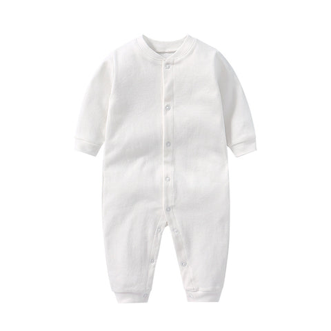 White toddler baby boy girl romper one piece