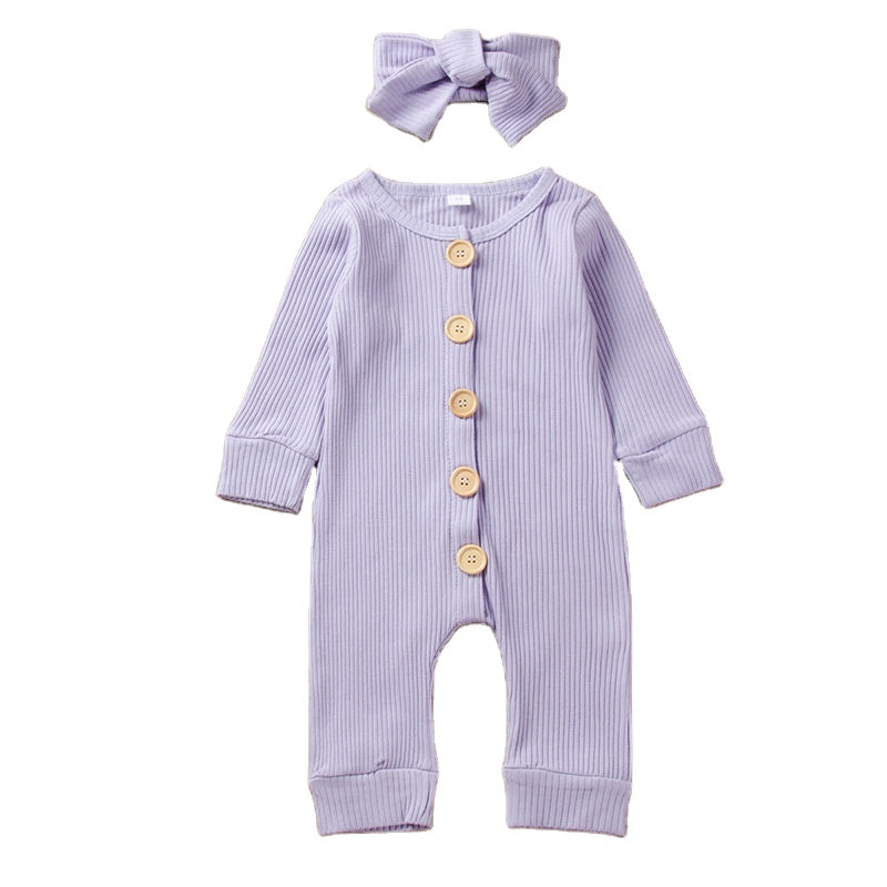 Parentiva Baby Girl Cute Lavender Outfits