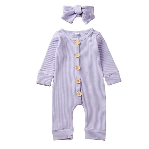 Lavender Baby Clothes Rompers