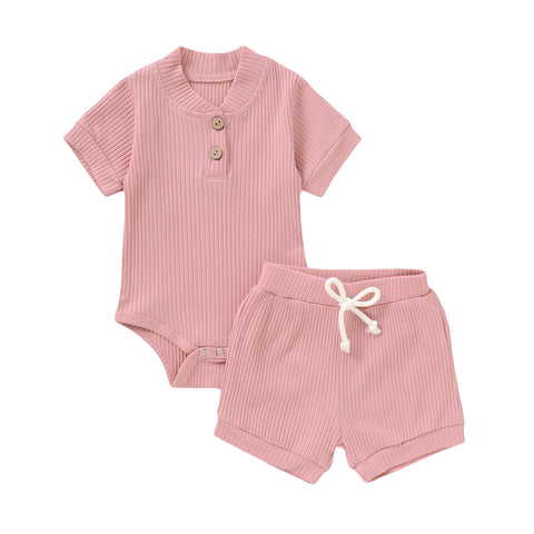 Pink toddler baby clothes set