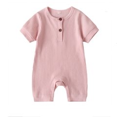 Striped Baby Bodysuits Long Sleeve - Pink