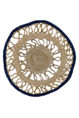 STRIKE -ROUND RUG -NATURAL