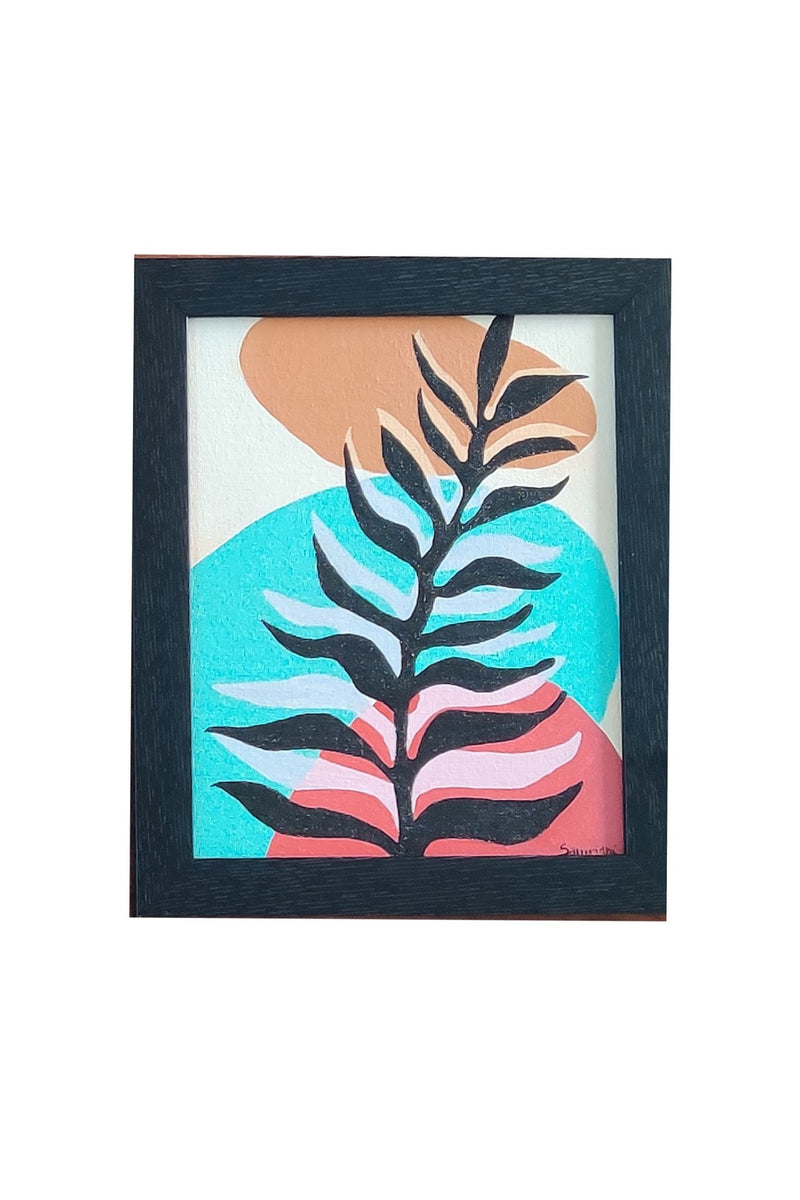 "ABSTRACT TROPICAL 2 PAINTING - 8"" x 10"" - ART AVENUE"