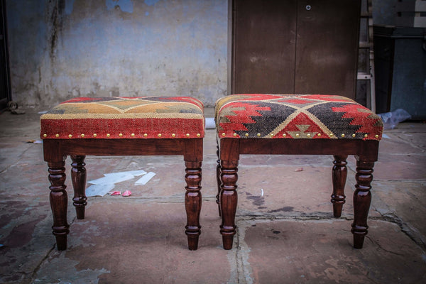 ACTIVE -RECTANGULAR OTTOMAN-MUTICOLOUR - ART AVENUE