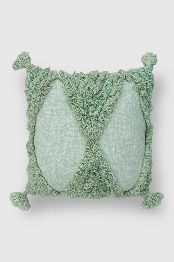 AISAI - SQUARE CUSHION COVER - MINT GREEN - ART AVENUE