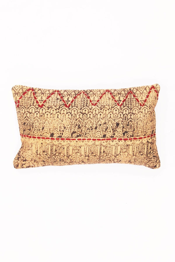 AJRAK - LUMBAR CUSHION COVER -BROWN - ART AVENUE