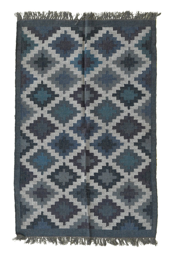 AKUMA - KILIM RUG -DARK GREY - ART AVENUE