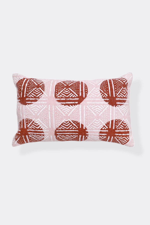 ALABAMA - LUMBAR CUSHION COVER - MAROON - ART AVENUE