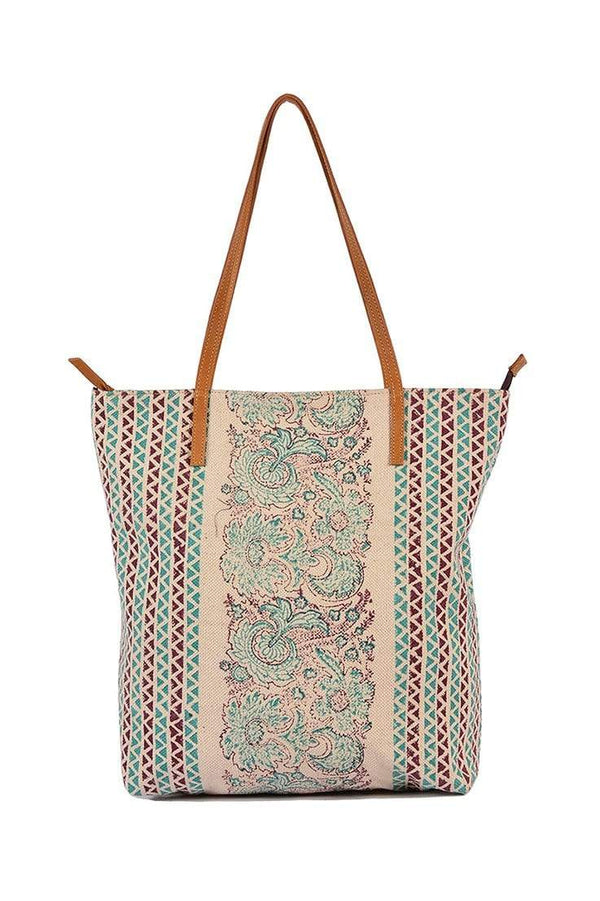 ALBANIA - BLOCK PRINT TOTE BAG - ART AVENUE