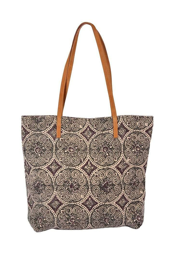 ALLUM - BLOCK PRINTED TOTE BAG - ART AVENUE
