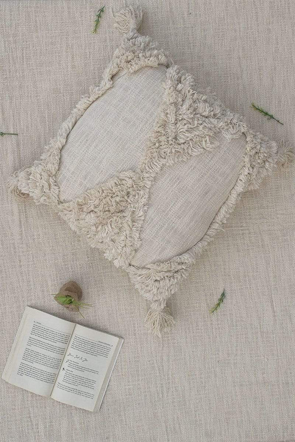 AMA - SQUARE CUSHION COVER - OFF WHITE - ART AVENUE