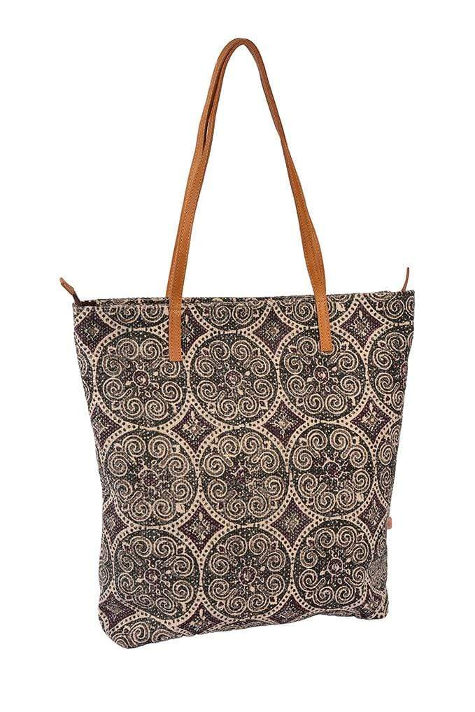 ANTIQUA - BLOCK PRINTED TOTE BAG - ART AVENUE