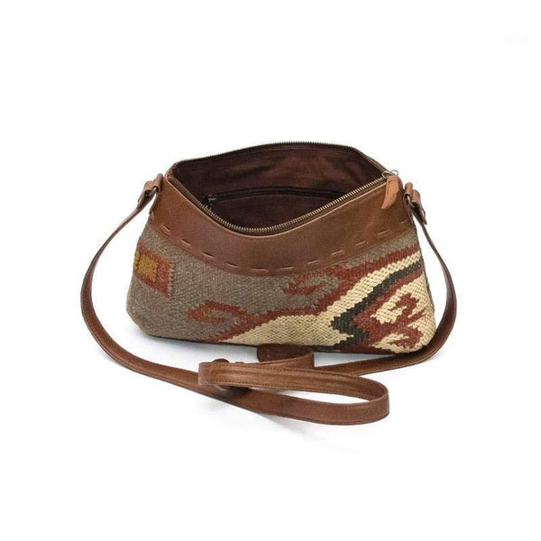 ARIBO - KILIM & LEATHER SLING BAG - ART AVENUE